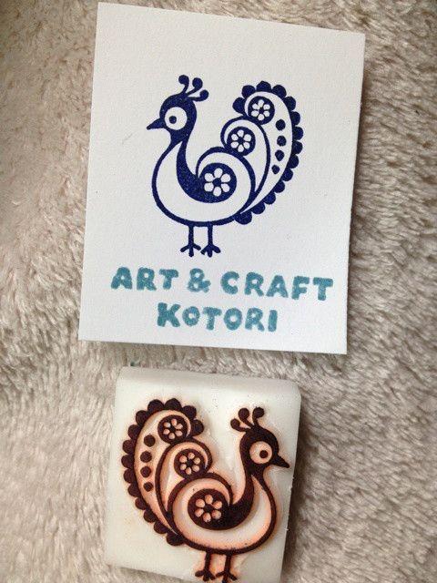 植物と鳥のモチーフで の画像 ART & CRAFT KOTORIの消しゴムはんこ