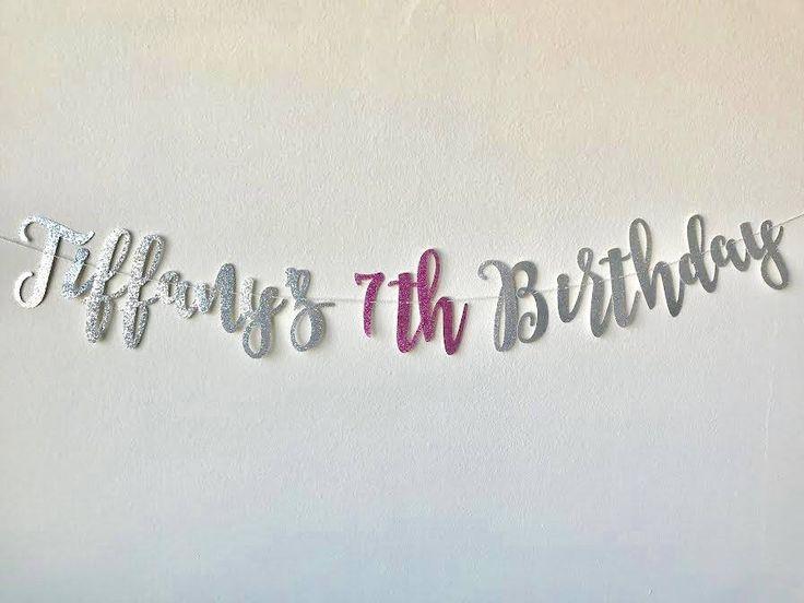 Happy Birthday Banner, Custom Birthday, Glitter Birthday Banner, Gold Birthday Party, by RedWhiteAndBloom on Etsy https://www.etsy.com/listing/562823634/happy-birthday-banner-custom-birthday