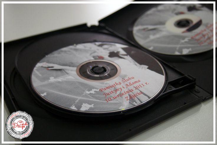 Naklejki na płyty DVD - czerwony ślub / Red Wedding  www.cardsdesign.pl