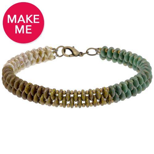 Verdigris Bracelet | FusionBeads.com  looks super easy & fun