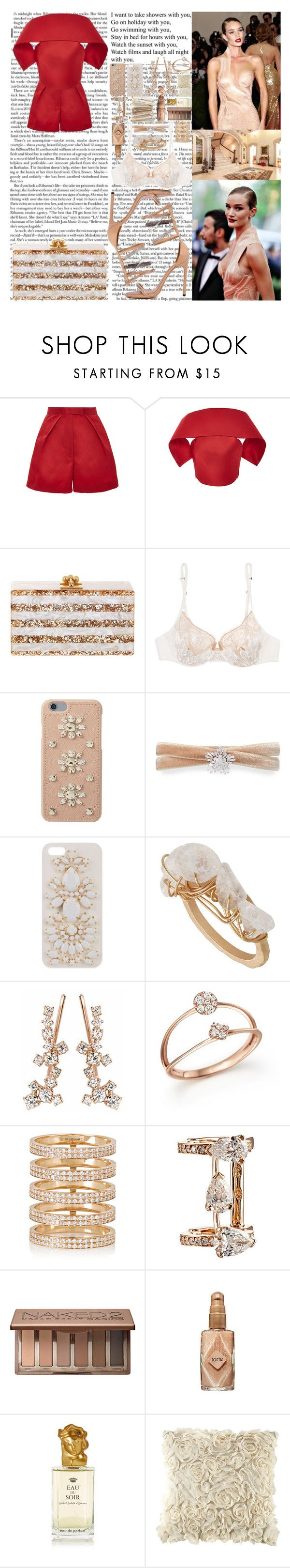 """""""And all of this stuff will break me Don't break me Hold on All of this stuff will break me Why you have to treat me like that? It's taking all I have not to look back When you gonna grow up and look past Everybody else has flaws,"""" by labelsoflove ❤ liked on Polyvore featuring Zac Posen, Christian Louboutin, La Perla, MICHAEL Michael Kors, Fallon, Skinnydip, Afew Jewels, Bloomingdale's, Repossi and Urban Decay"""