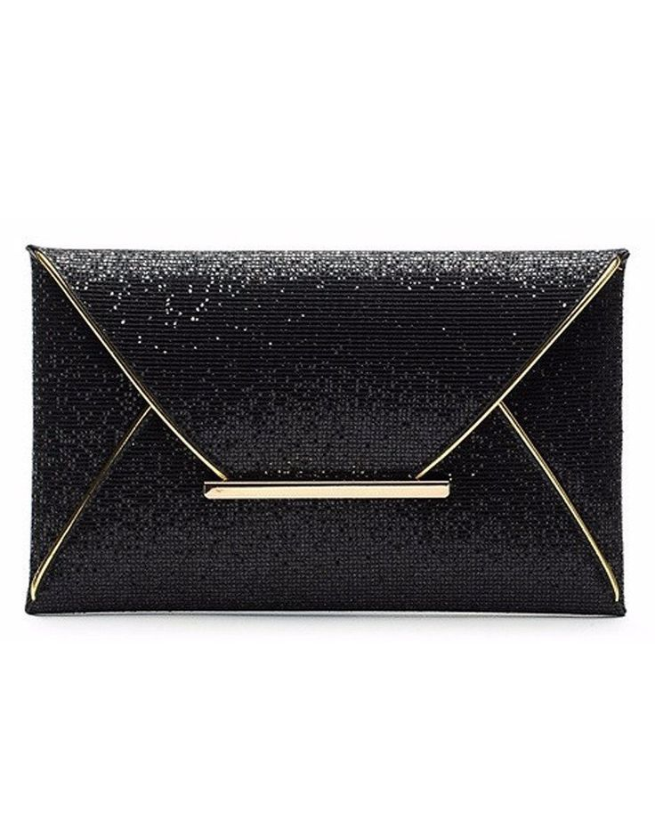 Perfect Gifts for Her - Black Glitter Clutch Purse Online -  Luxoview.com