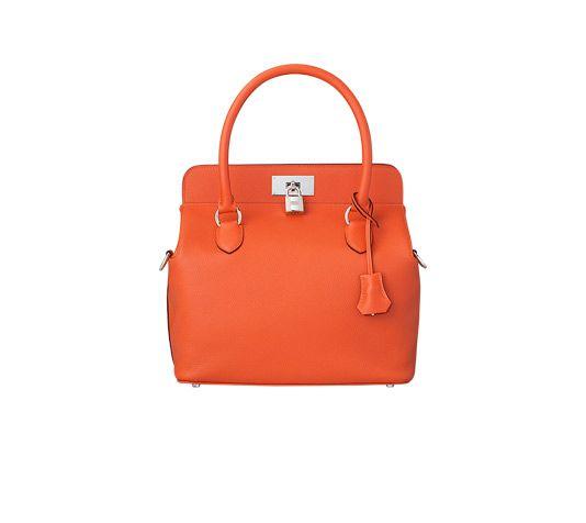 Toolbox Hermes bag in fire evercolor calfskin Measures 10\u0026quot; x 10\u0026quot; x ...