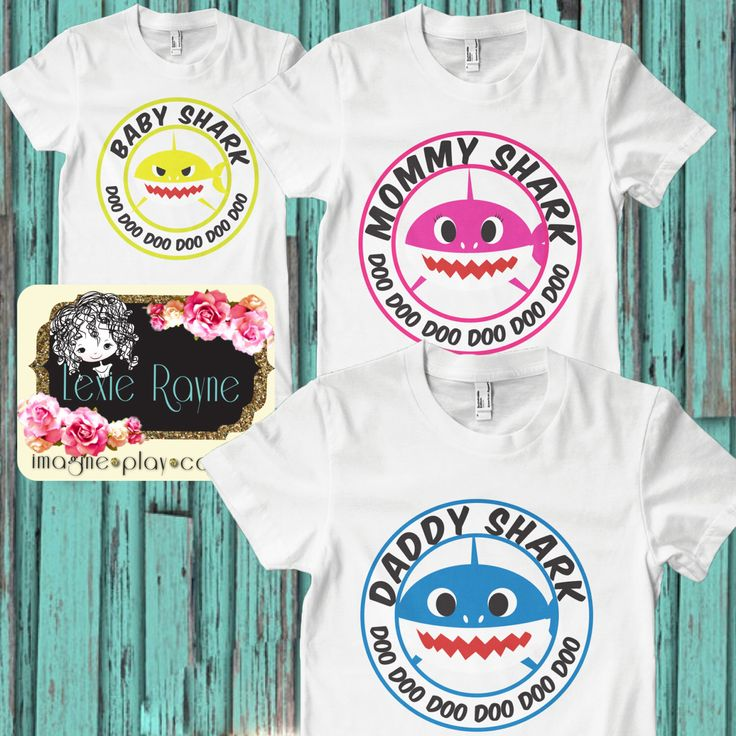 Daddy Shark, Mens Shirt, Mens T Shirt, Papa Bear, Shark Family, Family shirt, T Shirt, Bear family by LexieRayne on Etsy https://www.etsy.com/listing/494971223/daddy-shark-mens-shirt-mens-t-shirt-papa