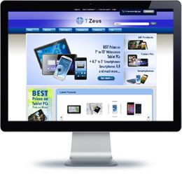 T-Zeus eStore built with E-commerce.