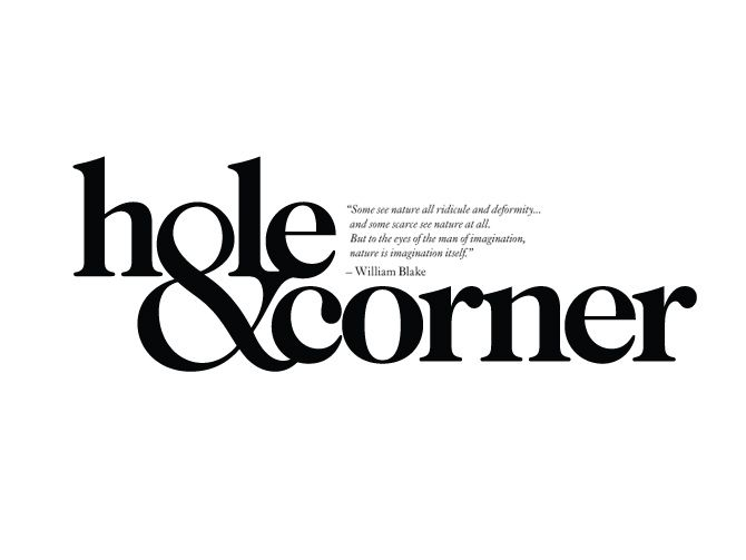 Hole & Corner / Andreas Neophytou. Typography. Logo. Tightly kerned. Thick, bold strokes. Symbol as letter.