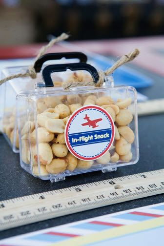 Little Aviator Party Snacks-adorable