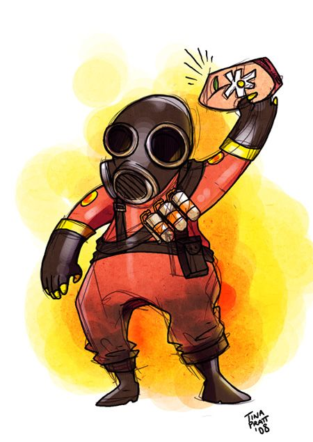 tf2 flaming pyro by jiggly on deviantart - Tf2 Halloween Masks