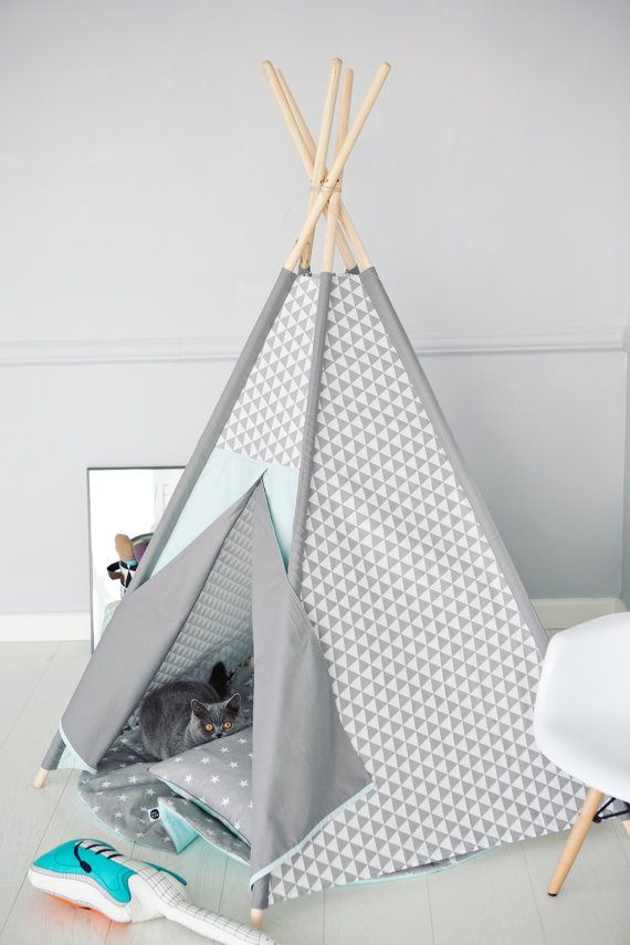 tipi wigwam gris menthe chambre b b pinterest f r kinder mama und kinderzimmer. Black Bedroom Furniture Sets. Home Design Ideas