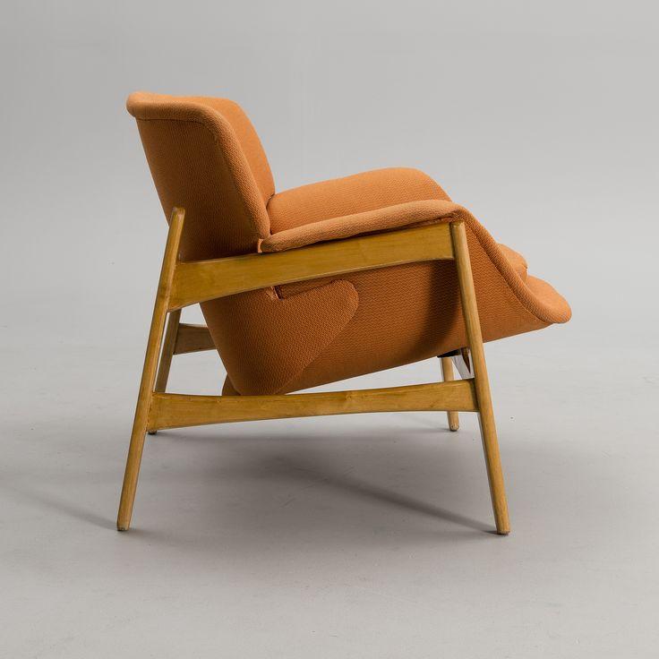 Carin Bryggman Birch Lounge Chair for Boman 1950s