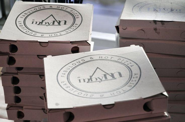 mbyM pizzas <3 <3 <3  #Pizzabox #CustomadePizza #mbyM