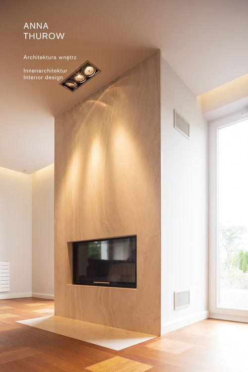 modern marmur fireplaces ideas nowoczesny kominek marmuru designed by: annathurow.pl