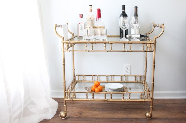 Brass Bar Cart | DIY bar cart makeover | a multi-functional piece with endless possibilities