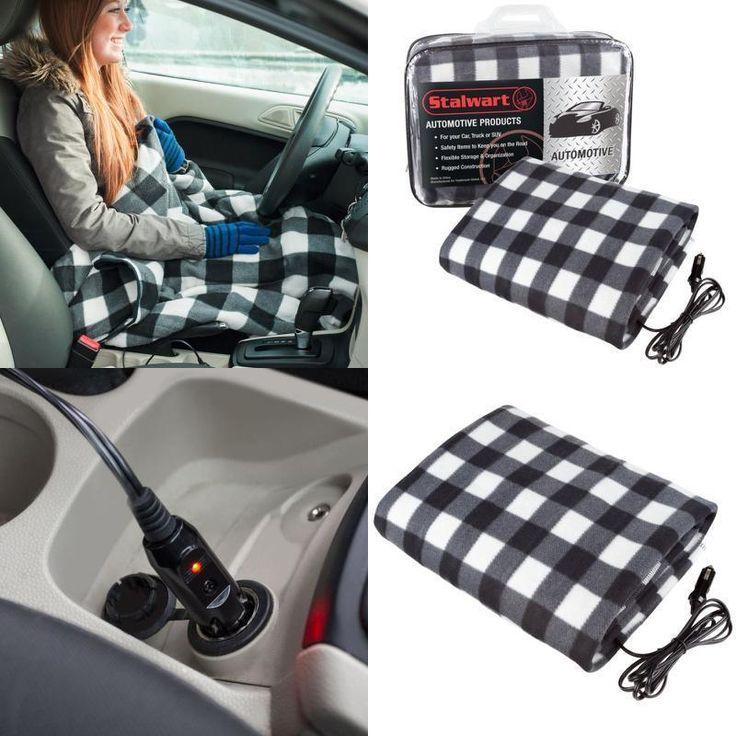 Electric Heated Throw Blanket Warm Heat 12 Volt Fleece Travel for Car Trucks RV #ElectricHeatedThrowBlanket