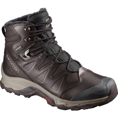 Salomon Men's Quest Winter GTX Hiking Boots (Black/Red, Size 8.5) - Men's Outdoor at Academy Sports