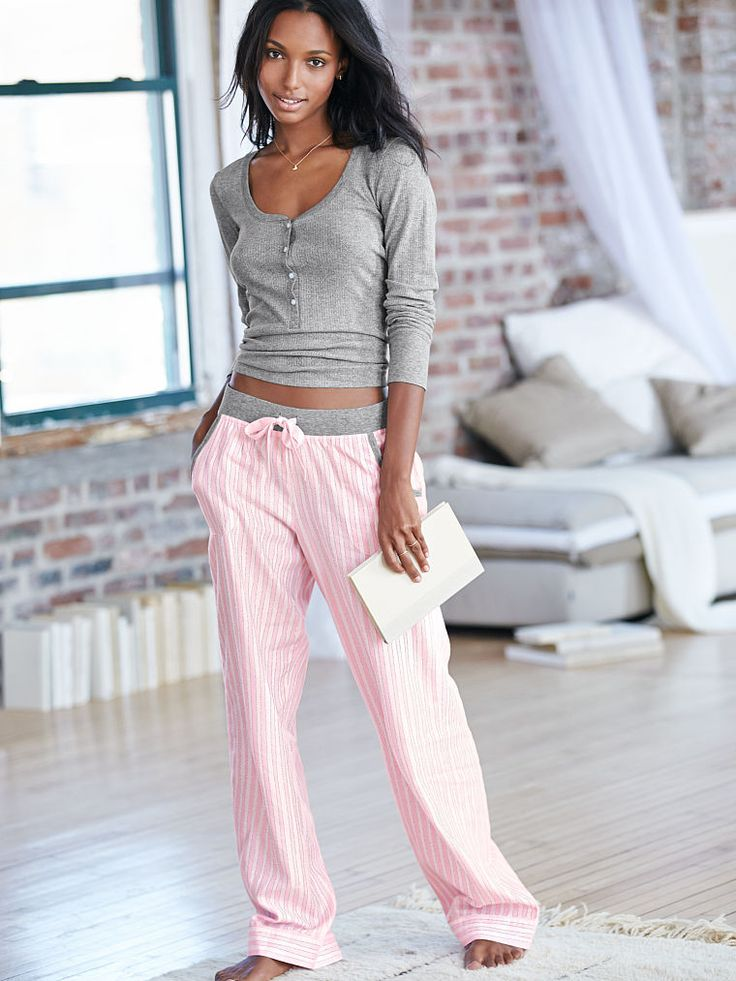 NEW! The Dreamer Henley Pajama: pink stripe (1 of 2)
