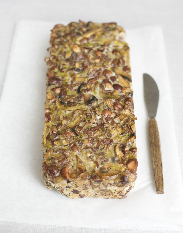 Mushroom and hazelnut loaf