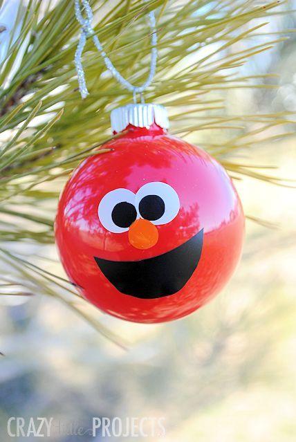 Make Your Own Elmo Ornaments http://diply.com/creativeideas/diy-fun-character-ornaments/19270/