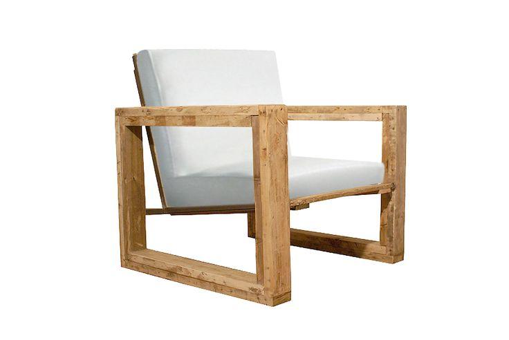 Fauteuil épuré et moderne en bois de palette