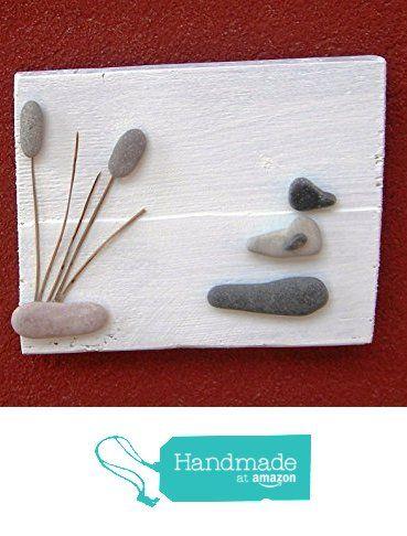 Idea regalo papera nello stagno da Wood & Stone Arte con i ciottoli, pebble art, quadro, decorazione casa, decorazione parete, pannello legno.