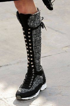 Chanel Sneaker 2015 Collection Tweed Black White Boots. Get the must-have boots of this season! These Chanel Sneaker 2015 Collection Tweed Black White Boots are a top 10 member favorite on Tradesy. Save on yours before they're sold out!