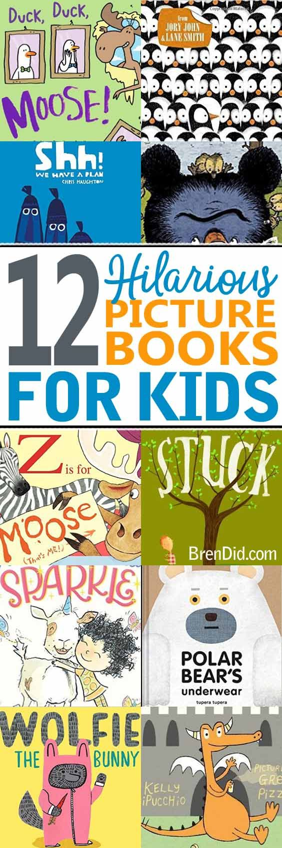 Hilarious picture books for kids, funny read aloud books for kids that will keep the whole family entertained.