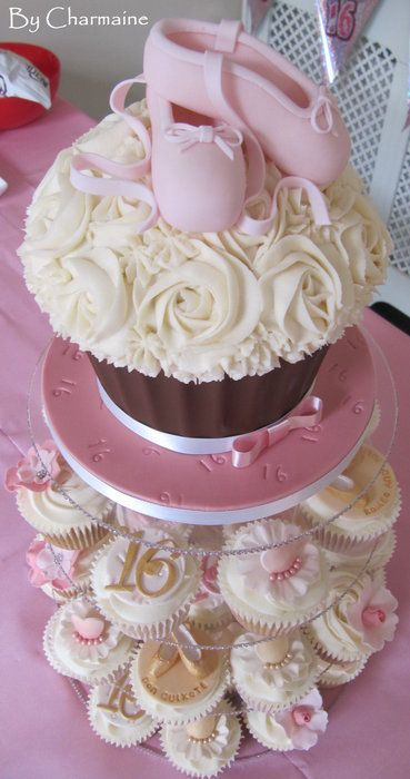 giant cupcake as a first birthday smash cake when you are having cupcakes instead of a regular cake