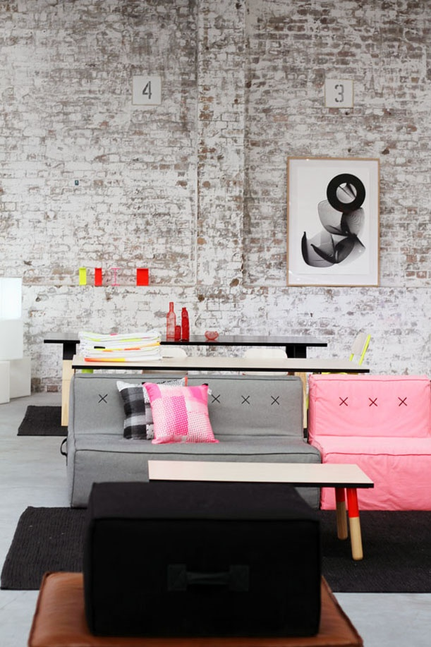 pink + grey may be an option. Love the walls though
