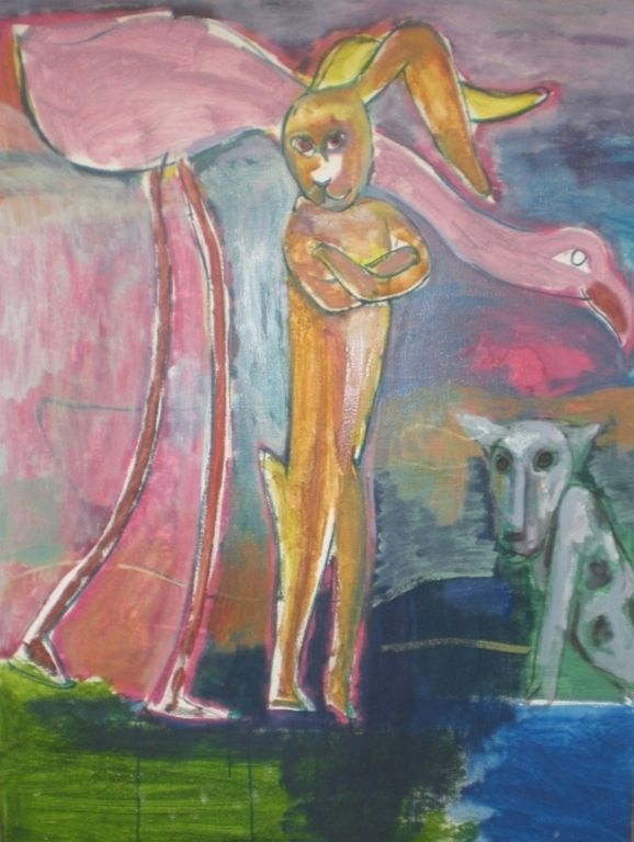 Anton Vrede (1953) is een Nederlands kunstenaar, die werkt in een expressionistische, figuratieve, soms abstraherende stijl. In zijn werk spelen dierfiguren veelal een hoofdrol, waarbij de verschillende figuren hun eigen betekenis hebben.[1] In zijn schilderijen en grafiek vertrouwt hij met vlotte penseelstreken een naïeve sprookjesachtige wereld aan het doek of papier toe.