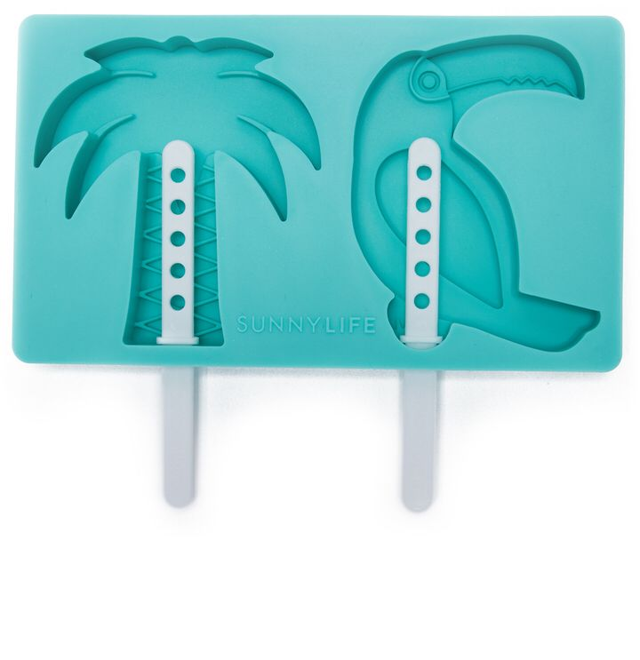 SunnyLife Tropical Popsicle Molds Palm tree and flamingo popsicles! How cute would this be for a luau party?! (promoted)