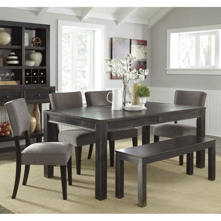 1000 Ideas About Dining Set With Bench On Pinterest