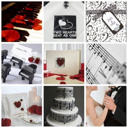 want a music themed wedding