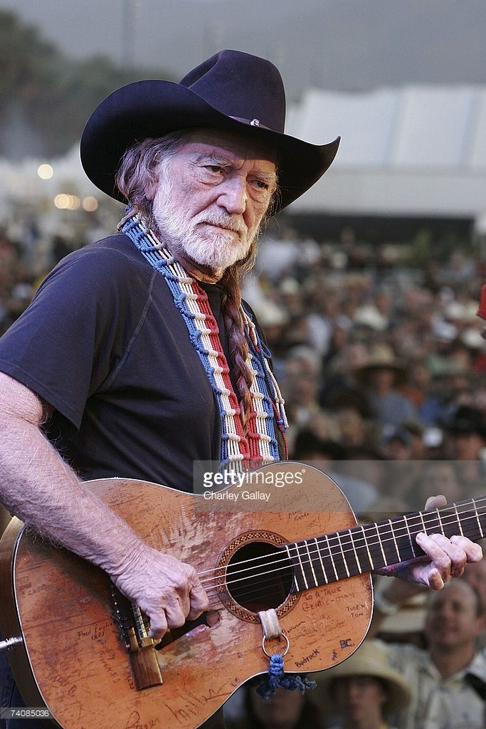 Musician Willie Nelson performs on the Palomino stage during the Stagecoach Music Festival held at the Empire Polo Field on May 5, 2007 in Indio, California.