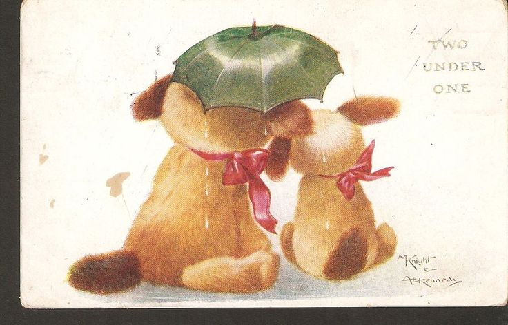 Faulkner London Two under One illustration by M KNIGHT & Kennedy 1900s Dog