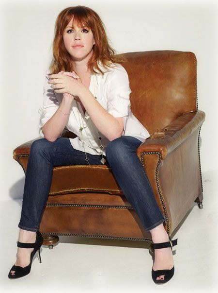 Molly Ringwald. The official Hollywood red head:) Love the cut and of course the color!