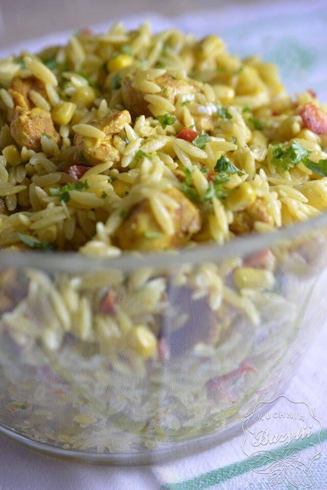 Salatka Z Makaronem Orzo I Kurczakiem Przepis Na Imprezowa Salatke Recipe Cooking Recipes Culinary Recipes Recipes