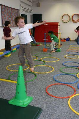 Education physique, motricité à la maternelle: Parcours de motricité