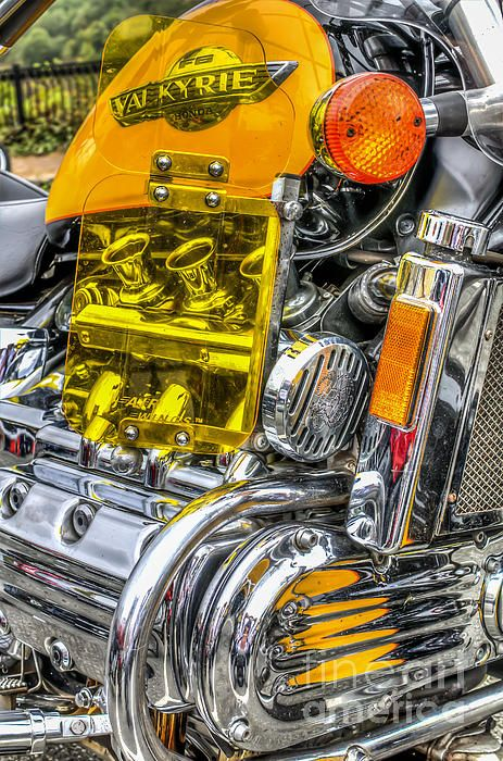 Gleaming chrome of an #engine of a #Honda #Valkyrie #motorcycle. #fineart #decor #StevePurnell