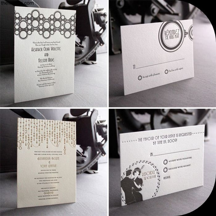 fast shipping wedding invitations%0A art deco wedding invitations flywhee