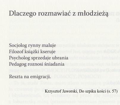 Cytat z książki Krzysztof Jaworski Do szpiku kości 2013