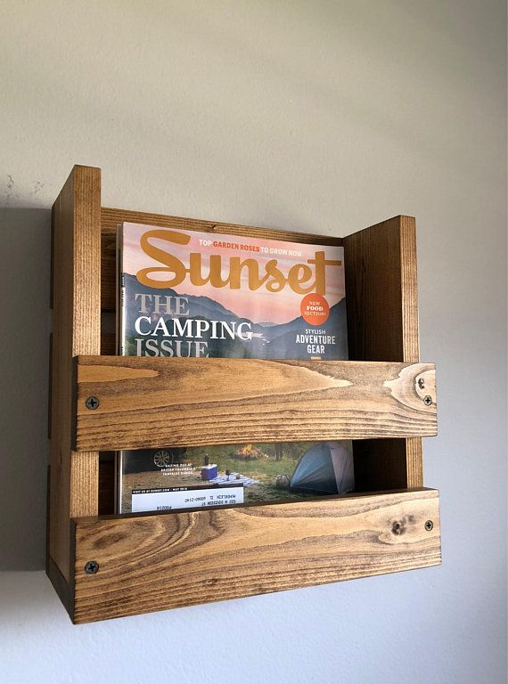 Magazine Stand Wooden