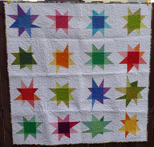 I love this quilt, and I love even more that it was made for a child in need!: