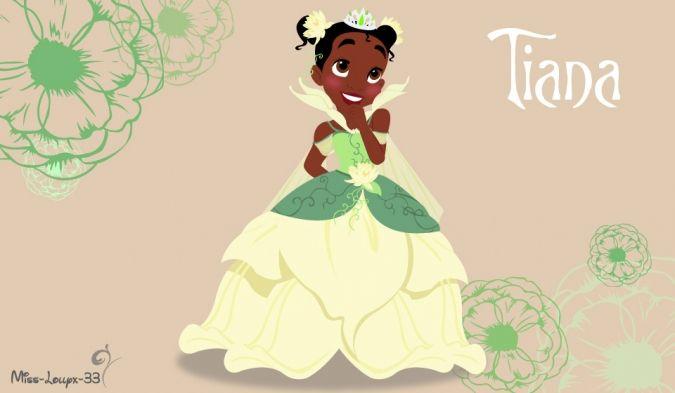 Принцесса Тиана в детстве