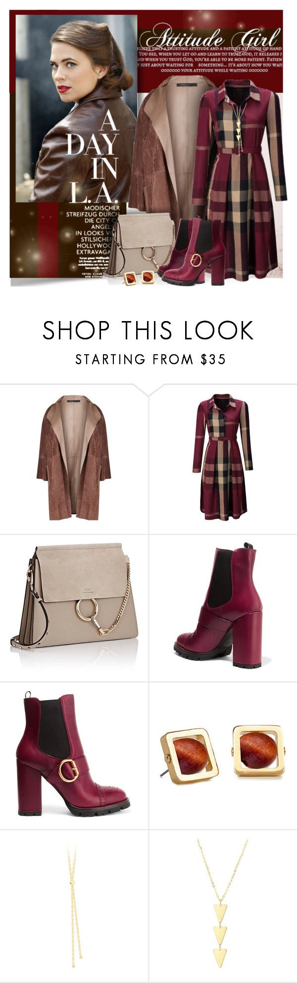 """""""Attitude Girl - Hayley Atwell"""" by petri5 ❤ liked on Polyvore featuring Marina Rinaldi, WithChic, Chloé, Prada and Lele Sadoughi"""