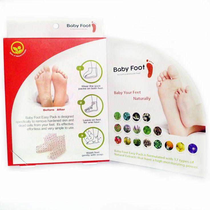 طريقة استخدام بيبي فوت لتقشير القدمين بعد نقع القدمين بالماء لمدة 10 دقائق ثم تجفيفهما يتم لبس جوارب بيبي فوت البلاستيكية المحت Baby Feet Baby Wash Baby Skin