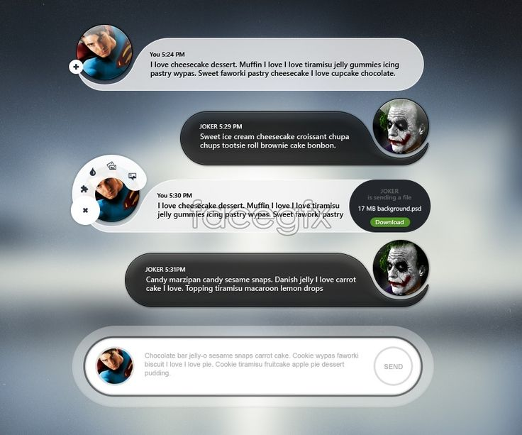 Messaging Chat App UI