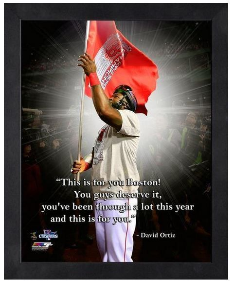 "David Ortiz Boston Red Sox After 2013 World Series-11""x 1 4"" Framed ""Pro Quotes"""