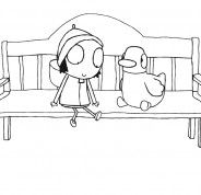 sarah and duck coloring pages - photo#10