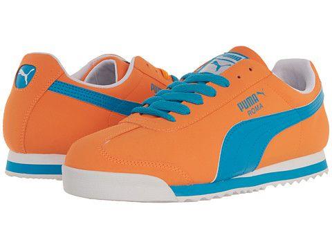 86fe9638ced1 PUMA Roma SL NBK 2 Fluro Orange Fluo Blue