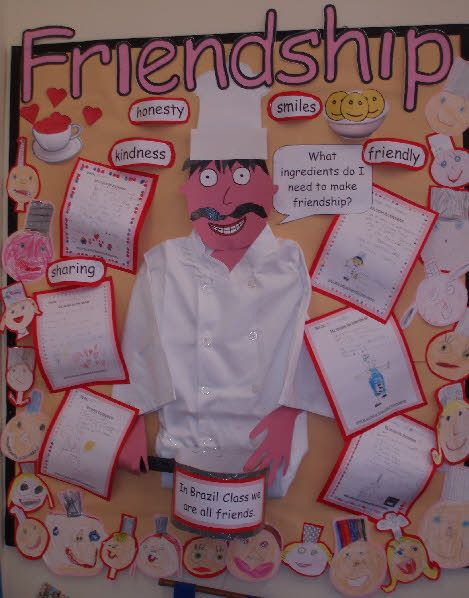 A Recipe for Friendship classroom display photo from Shelley.